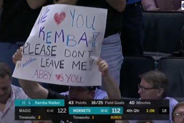 Le public de Charlotte a réservé une superbe ovation à Kemba Walker pour le dernier match de la saison