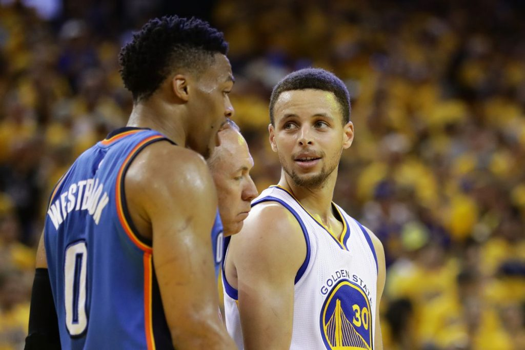 Steph Curry et Russell Westbrook