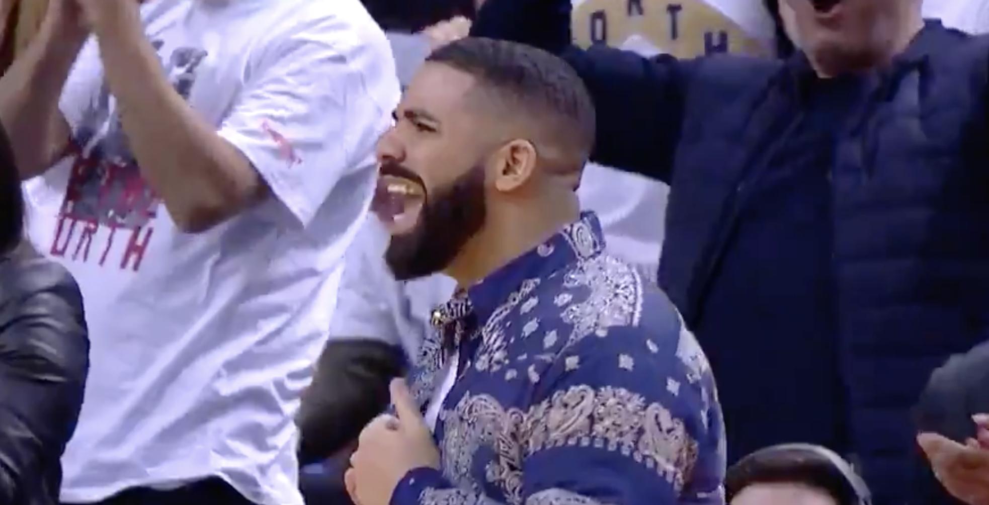 Drake tacle les Sixers en playoffs