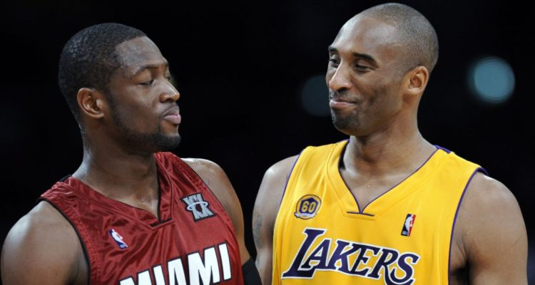 Dwyane Wade a déclaré que les deux premières places du top all-time des arrières étaient occupées par Michael Jordan et Kobe Bryant