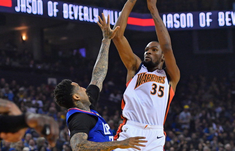 ee1a3e6999683 NBA – Kevin Durant lui-même surpris par le maillot des Warriors