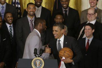 Dwyane Wade et l'ancien Président Barack Obama