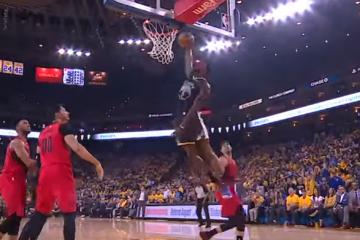 Le dunk de Jordan Bell après une action collective contre Portland
