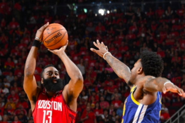 James Harden Houston Rockets Tir Trois Points Jordan Bell