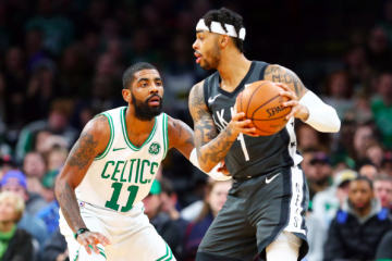 Kyrie Irving au duel avec D'Angelo Russell