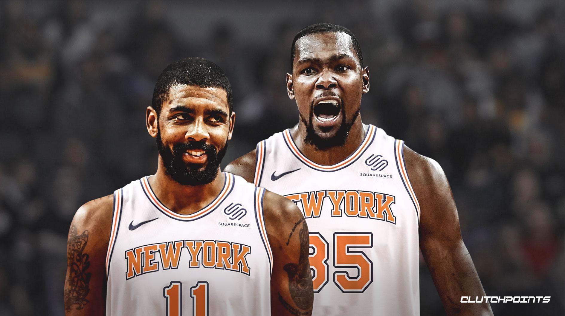 Kyrie Irving et Kevin Durant sous le maillot des Knicks