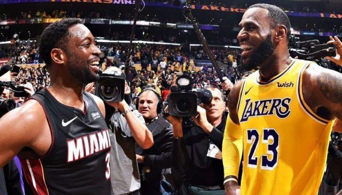 LeBron James Dwyane Wade Los Angeles Lakers Miami Heat