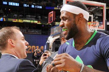 LeBron James Frank Vogel Los Angeles Lakers All-Star Game 2014