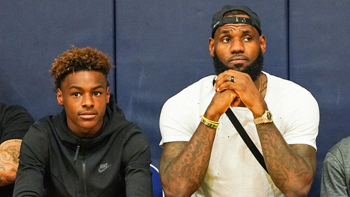 LeBron James aux côtés de son fils, LeBron James Jr.