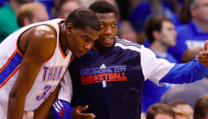 Nate Robinson Kevin Durant Oklahoma City Thunder