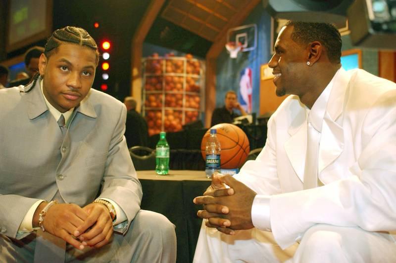 Carmelo et LBJ avant l'inqtauration du dress code