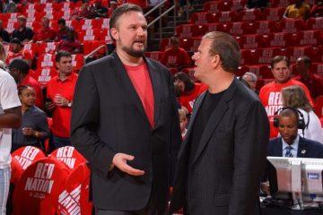 Daryl Morey et Tilman Fertitta, general manager et propriétaire des Rockets