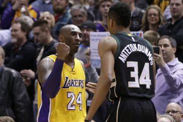 Kobe Bryant congratule Giannis Antetokounmpo