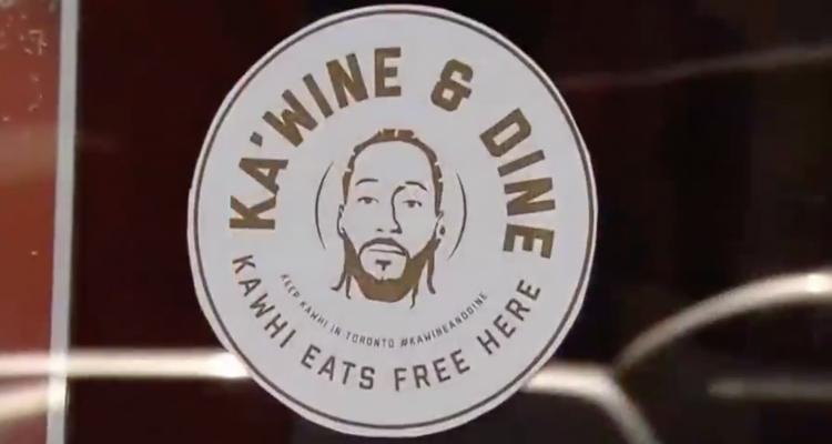 "L'initiative des fans des Raptors ""Ka'Wine and Dine"""