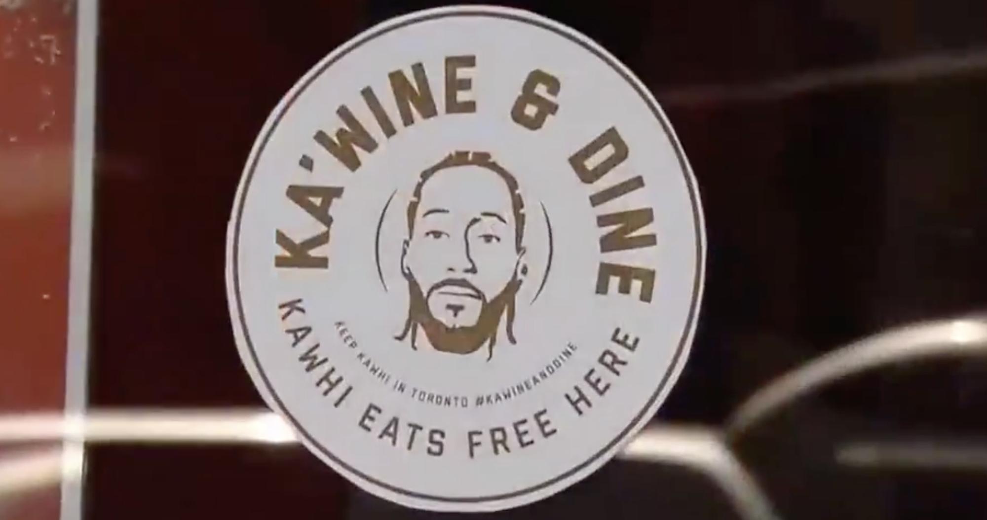 "L'initiative des fans des Raptors ""Ka'Wine and Dine"""