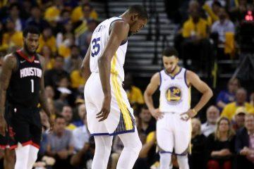 Kevin Durant s'est blessé dans le Game 5 contre les Rockets
