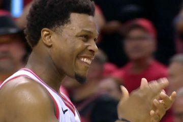 Kyle Lowry savoure la victoire des Raptors
