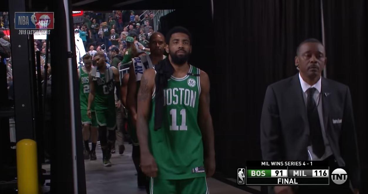 Kyrie Irving éliminé, quitte le parquet peut-être pour la dernière fois avec le maillot des Celtics