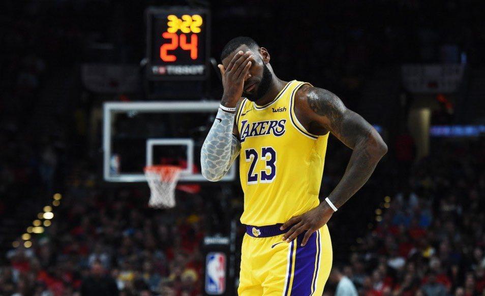 LeBron James dépité à Los Angeles