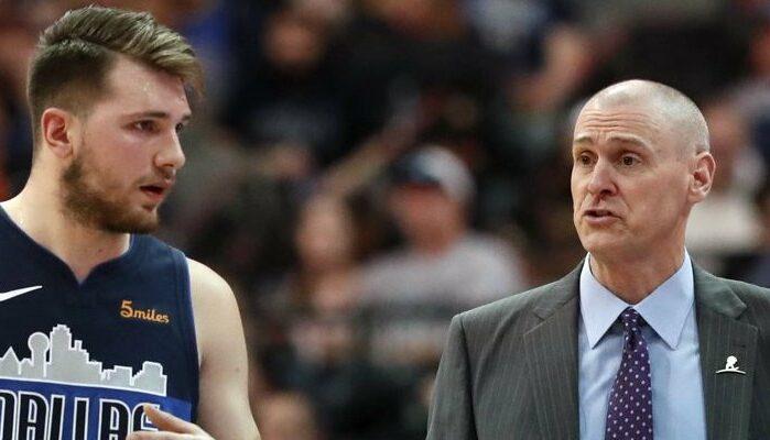 Luka Doncic et son coach Rick Carlisle à Dallas