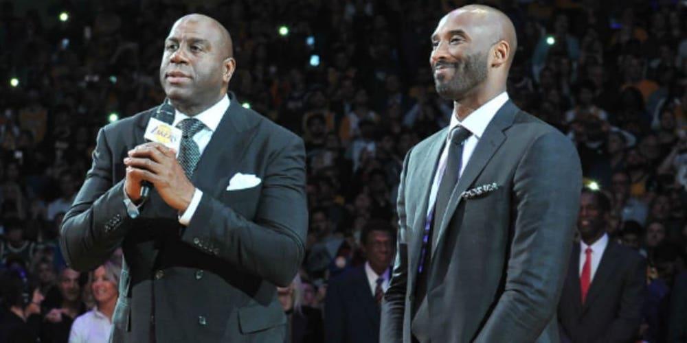 Magic Johnson et Kobe Bryant