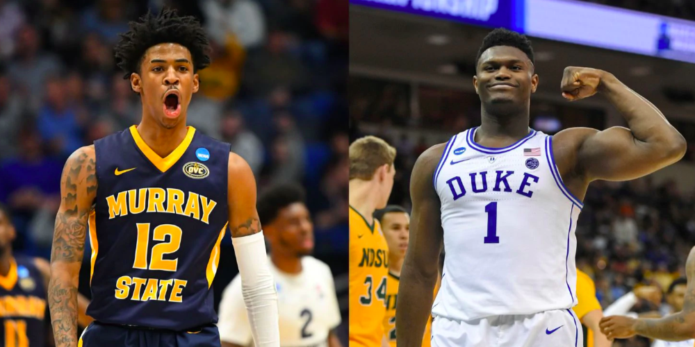 zion williamson ja morant duke murray state new orleans pelicans memphis grizzlies nba draft 2019