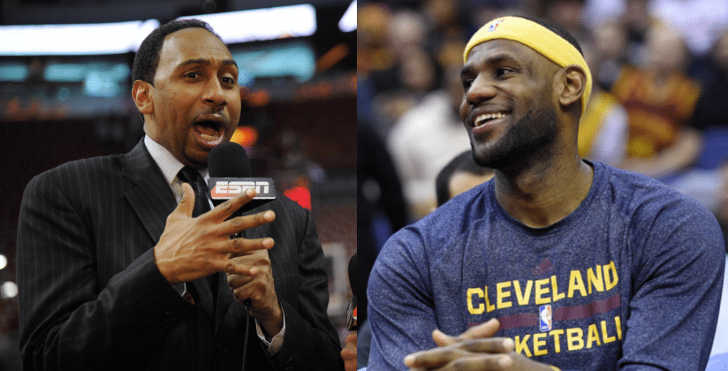 Le reporter d'ESPN Stephen A. Smith et LeBron James