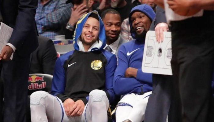 Kevin Durant réagit à la blessure de Stephen Curry