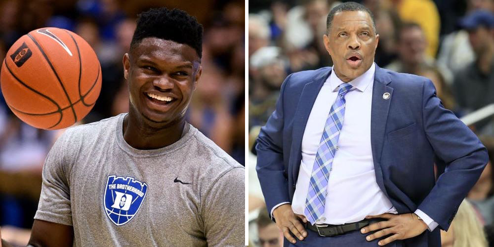 Zion Williamson et son nouveau coach Alvin Gentry