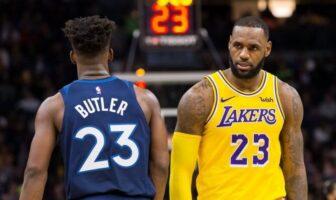 Jimmy Butler et LeBron James