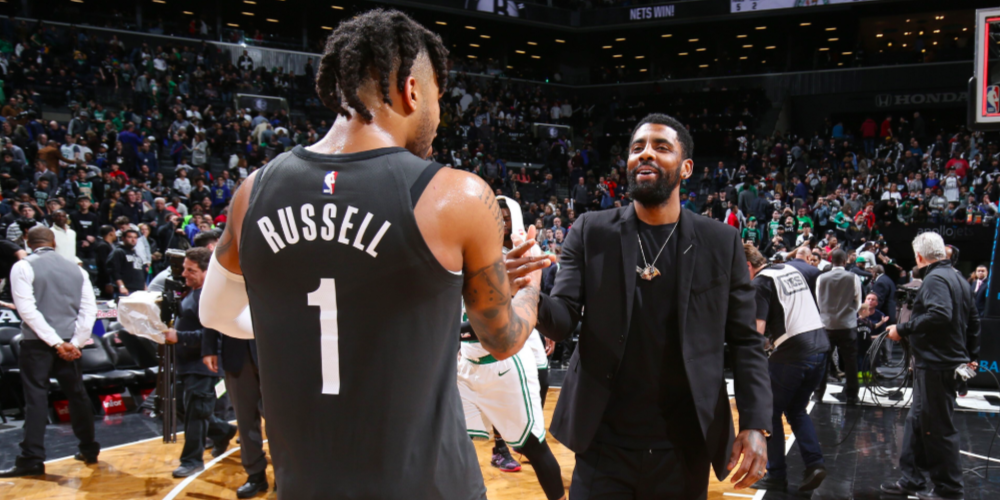 d'angelo russell kyrie irving brooklyn nets