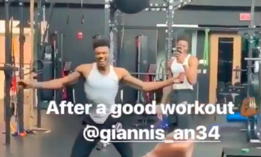 Giannis Antetokounmpo workout fun