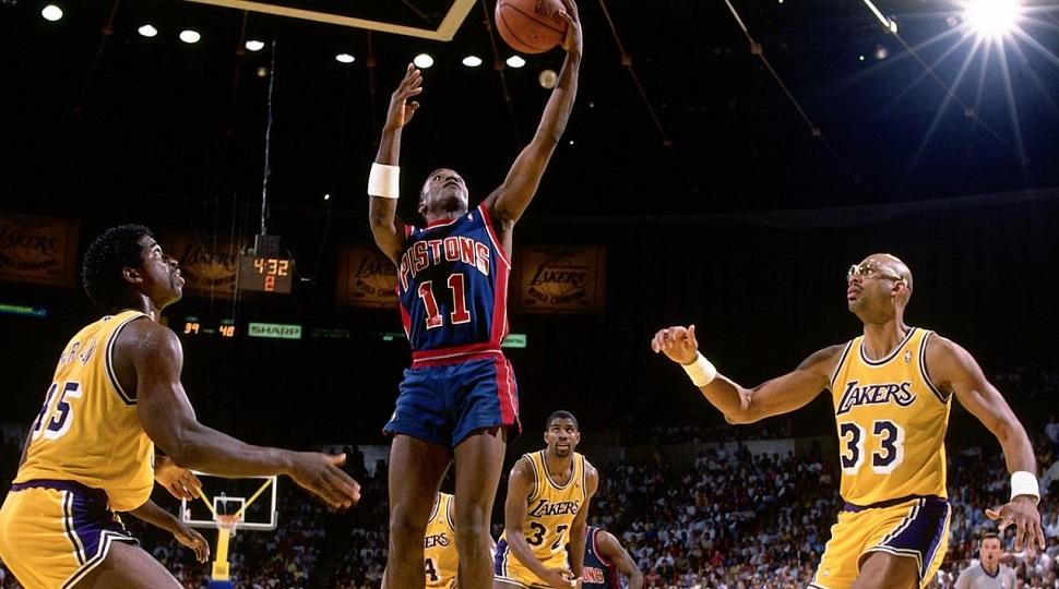 Isiah Thomas, légende des Detroit Pistons lors des Finales 1988 face aux Lakers