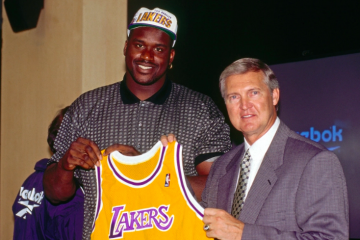 jerry west shaquille O'Neal lakers 1996