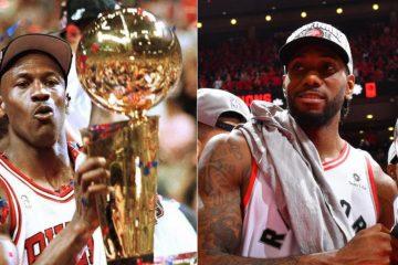 Michael Jordan et Kawhi Leonard