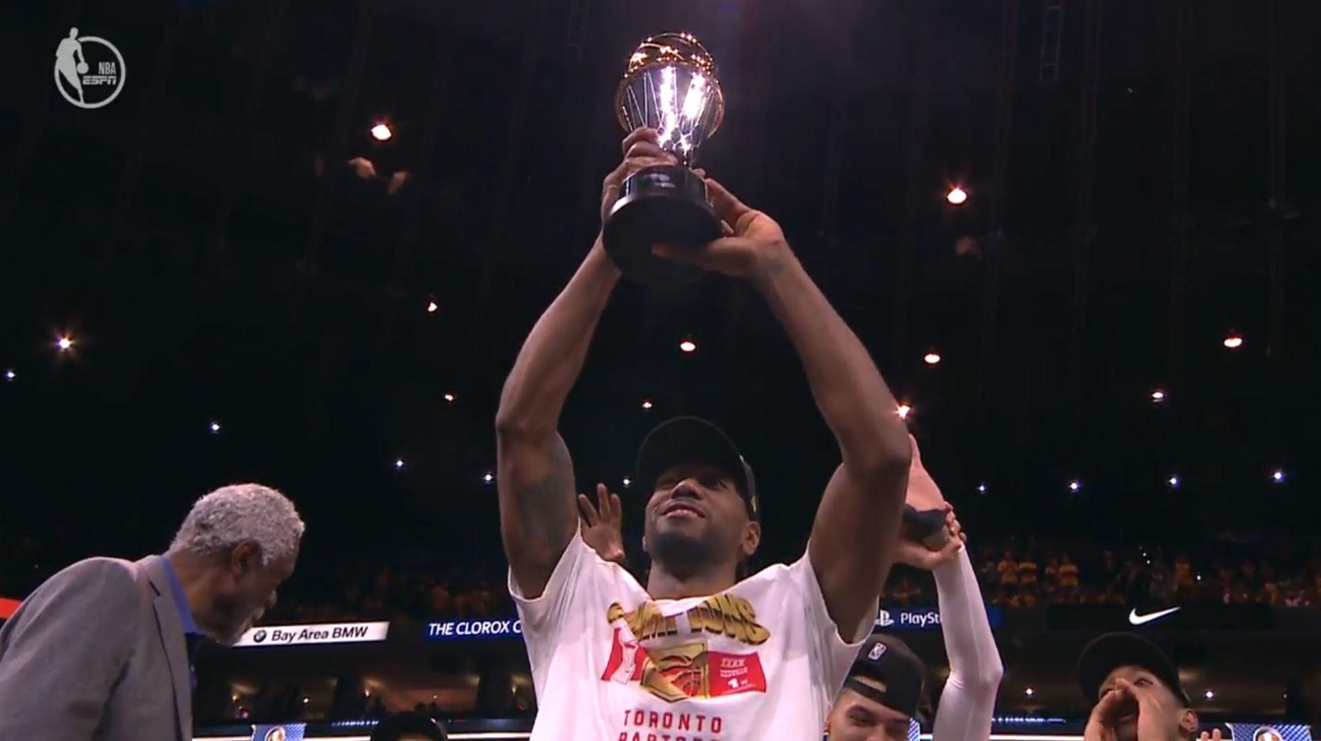 Kawhi Leonard est élu MVP des finales