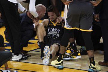 Klay Thompson touché au genou après une mauvaise chute