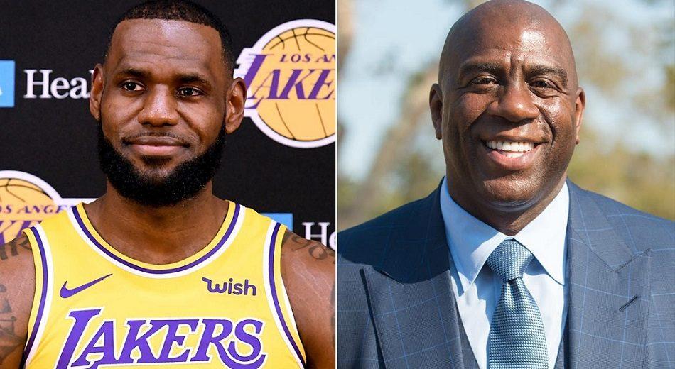 ceb04a7464d46 NBA – Magic Johnson réagit à la venue d'Anthony Davis aux côtés de LeBron  James