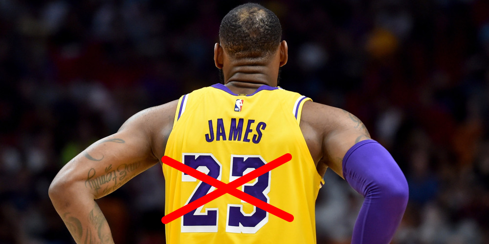 lebron james lakers n°6