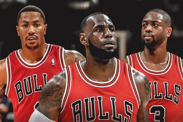 Derrick Rose, LeBron James et Dwyane Wade Chicago