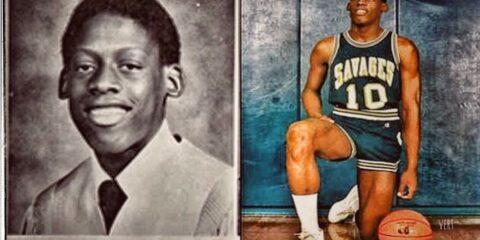 Des anciennes photos de Dennis Rodman jeune et lorsqu'il jouait pour les Savages de Southeastern Oklahoma University
