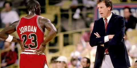Michael Jordan et son ancien coach des Bulls Doug Collins