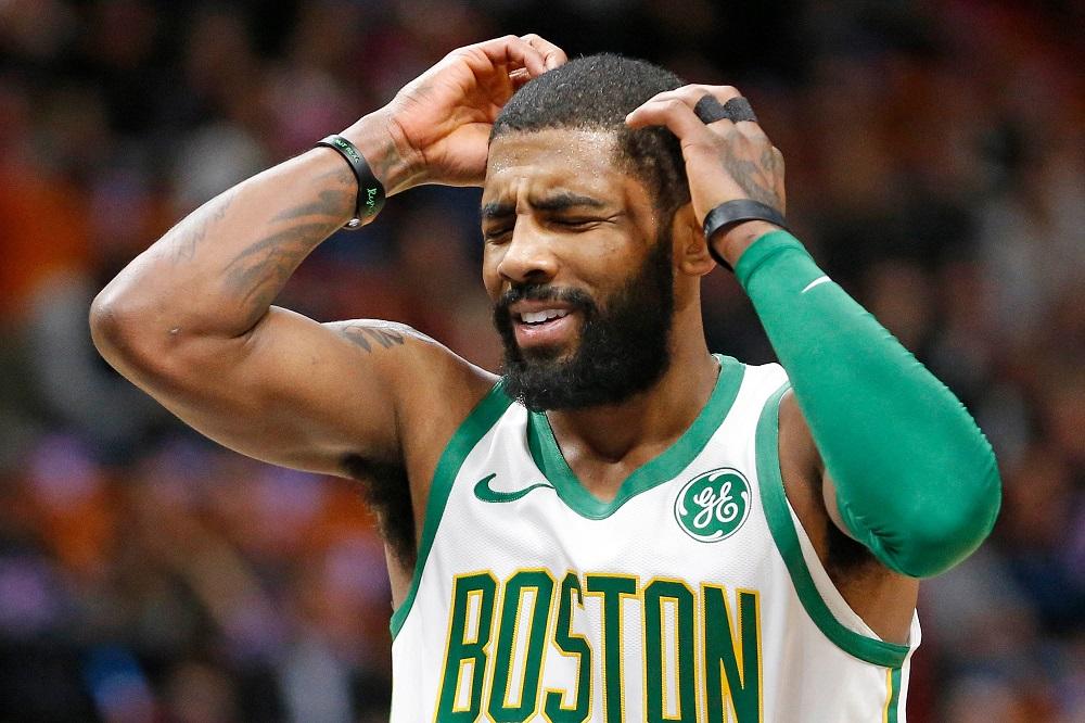 Kyrie Irving sous le maillot des Celtics