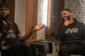 "Drake et LeBron lors de ""The Shop"""