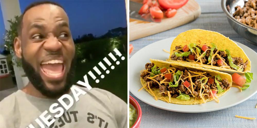 """LeBron James devient fou le jour du """"Taco Tuesday"""""""