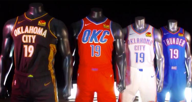 Les nouveaux maillots d'OKC pour la saison 2019-2020 ont été dévoilés