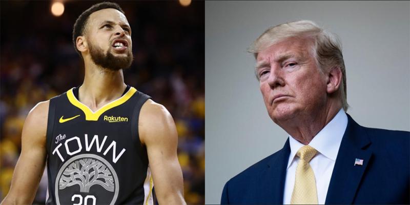 Stephen Curry et Donald Trump