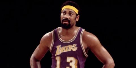 Wilt Chamberlain sous le maillot des Lakers
