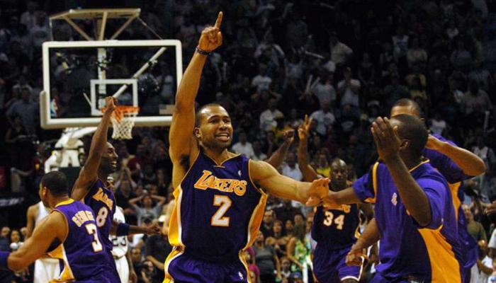 Derek Fisher game Winner 2004 Spurs Game 5