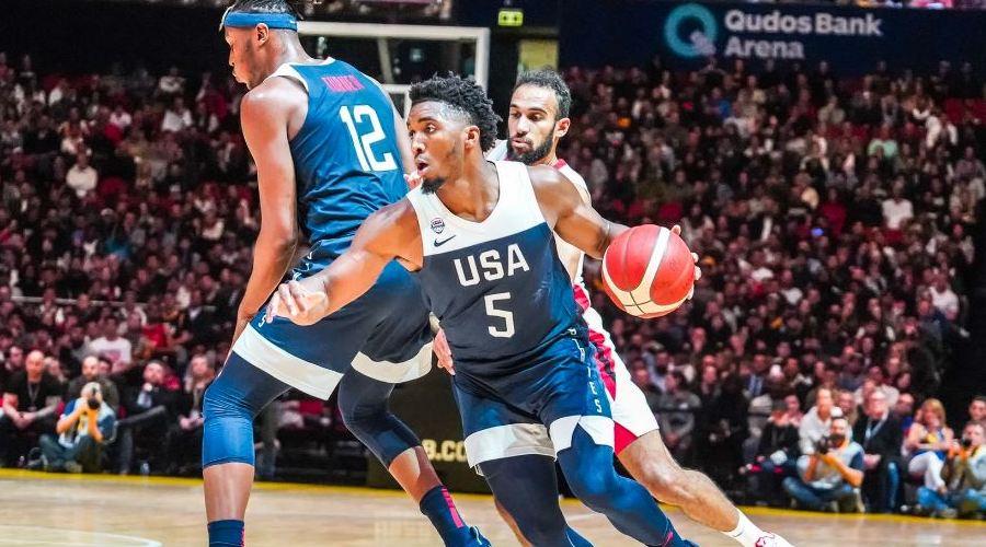 Donovan Mitchell contre le Canada